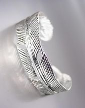 NATURALLY CHIC Silver Texture Metal LEAF Cuff Bracelet - $9.49