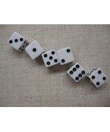 dice 6 count white New Six Dice White 16mm Valu... - $7.95