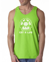 123 Get a Life mens Tank Top 1 up power video game 80s college mario gam... - €11,49 EUR+
