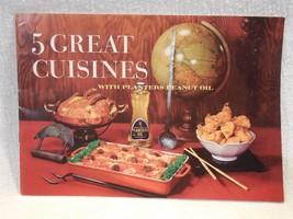Vintage 1967 Planters Peanut Mr Peanut Cooking Oil 5 Great Cuisines Reci... - $5.95