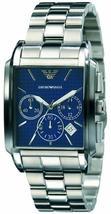 EMPORIO ARMANI AR0480 - MENS BLUE DIAL CHRONO DESIGNER WATCH - $212.77