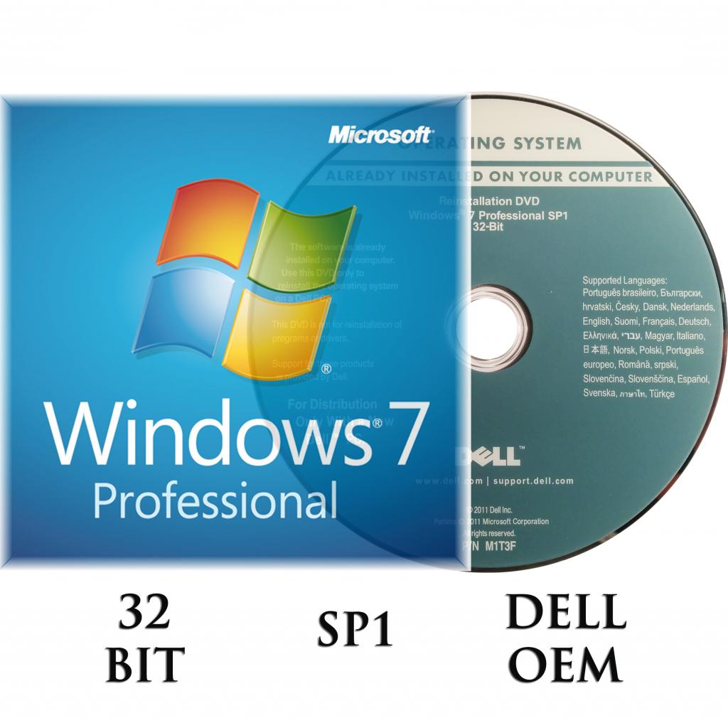 microsoft windows 7 professional 32 bit dvd a key coa sp1. Black Bedroom Furniture Sets. Home Design Ideas