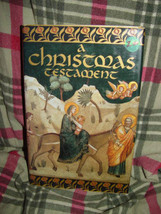 A Christmas Testament 1982 Hardcover Book Alot of Color Pictures - $24.00