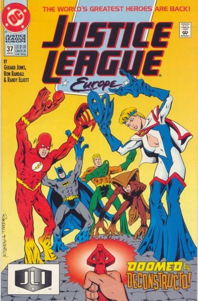 JUSTICE LEAGUE EUROPE #37 (1992) NM!