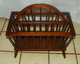 Pine Wagon Wheel Magazine Rack / Magazine Stand  (RP) - $199.00