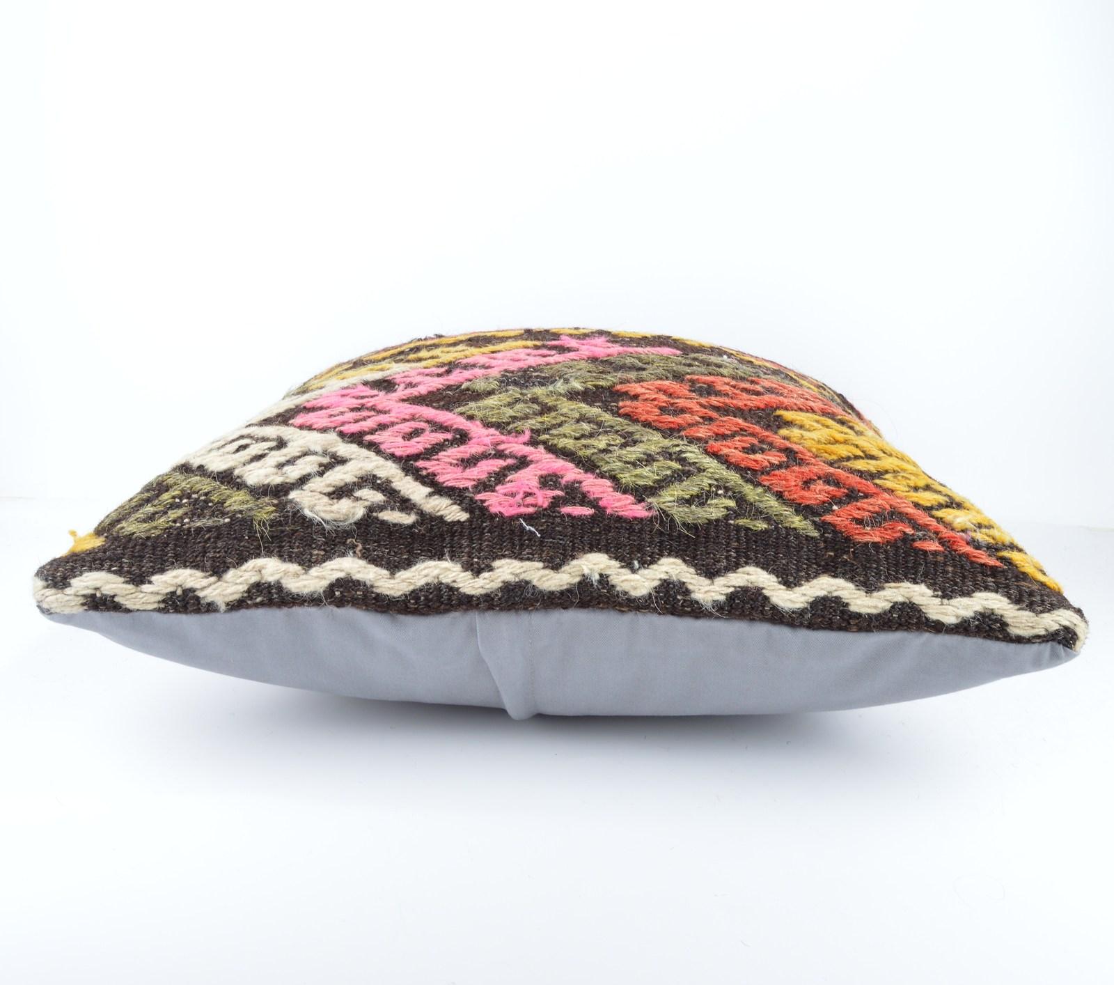 20x20 Handwoven Kilim Pillow Throw Pillow kilim cushion cover decorative throw - Pillows