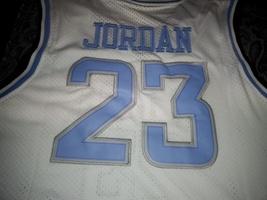 White North Carolina 23 Michael Jordan Jersey Stitched Michael Jordan Co... - $29.95