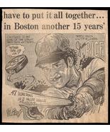 Jim Rice Caricature Red Sox Cartoon Newspaper Clip 1970s Vintage Sketch - $15.99
