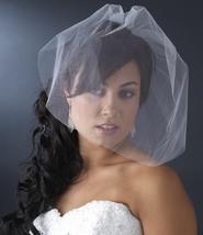 Fine Single Tier Bridal Wedding Birdcage Face Veil Blusher - $17.95