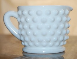 Lovely FENTON ART GLASS Milk Glass Hob Nail Min... - $14.88