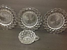 Vintage FOSTORIA Crystal AMERICAN 3 Salad Plate... - $19.75