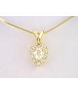 14kt Yellow Gold Pear Shape Diamond Pendant - $485.00