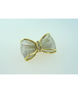 18kt Yellow Gold and Platinum Bow Pin - $230.00