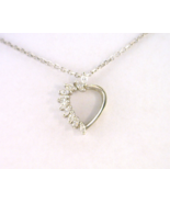14kt White Gold Heart Pendant with Diamonds - $342.00