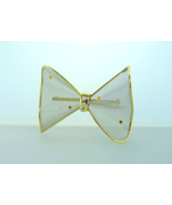 18kt Yellow Gold and Platinum Bow Brooch with D... - $400.00