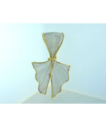 18kt Yellow Gold and Platinum Ribbon Brooch - $355.00