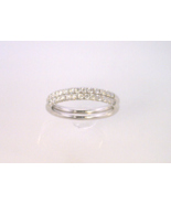 Two Piece Diamond Wedding Anniversary Bands - $790.00