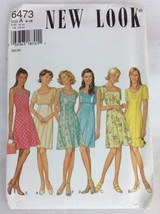 Sewing Pattern UNCUT New Look Simplicity sz 6 16 Dress Sleeveless N11 - $6.92