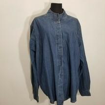 Coldwater Creek Womens Shirt Jacket Top 2X Cotton Denim Placket Button U... - $19.34