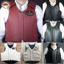 Equestrian Horse Riding Vest Safety Protective Hilason Leather Pro Rodeo U-P-MX - $148.95
