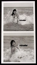 BETTIE PAGE PIN-UP PRINT SEXY & WET BEACH PHOTOS EROTIC PINUP OCEAN ART! - $5.93