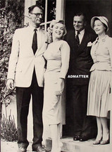 Marilyn Monroe Vintage 2 Sided Pin Up Poster Candid Photo With Arthur Miller - $3.85