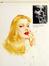 Vargas 2-Sided Pin-up Girls Redhead & Smoking Blonde from 1941 Varga Pai... - $9.89