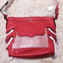 $295 Rebecca Minkoff Dexter Leather Crossbody Bucket Bag Purse In Coral NWT - $148.50