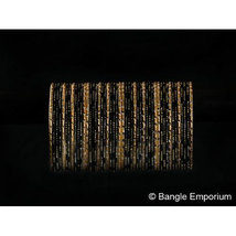 BangleEmporium Dusky Bride Collection 48 Pcs Traditional Black Gold Bangle Brace - $24.99