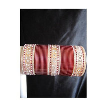 BangleEmpoirum Parampara: Cherry Maroon Choora Indian Bridal Bangle Brac... - $39.99