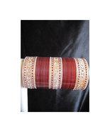 BangleEmpoirum Parampara: Cherry Maroon Choora Indian Bridal Bangle Brac... - $39.99