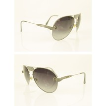 Chloe Tamaris CL2104 Silver Metallic Gray Leather Trim Aviator Sunglasse... - $287.10