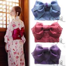 Women Japanese Kimono Yukata Styled Jacquard Bow Tie Hanhaba Obi Belt Co... - $37.99