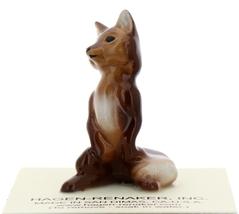 Hagen-Renaker Miniature Ceramic Figurine Fox Papa and Baby 2 Piece Set image 8