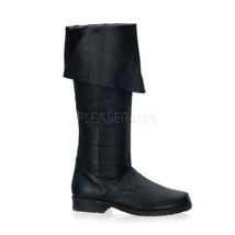 MAV8812/B/LE Men's Medieval Renaissance Pirate Black Leather Costume Kne... - $111.55