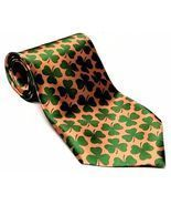 Good Luck St Patricks Day Necktie Irish Green Clover Shamrock 57in Men's... - $12.98
