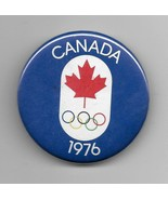 """Vintage 1976 Canada Olympic 2 1/4"""" Pin Back Metal Button - $4.95"""