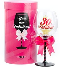 30 & Fabulous Birthday Wine Glass for Women | Fun Gift for Woman Turning... - $35.77