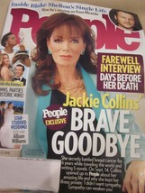PEOPLE MAGAZINE OCTOBER 5 2015 JACKIE COLLINS BRAVE GOODBYE BLAKE SHELTO... - $9.99