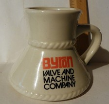 Byron Valve & Machine Co. Siloam Springs Ar. big bottom china cup mug so... - $32.91