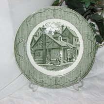 Green Transfer Dinner Plate Royal China The Old Curiosity Shop Transferware #1 - $5.78
