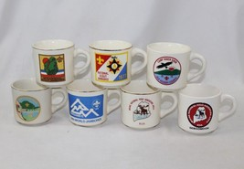 Vintage 1970s Lot of 7 Boy Scouts BSA Coffee Mug Scout Jamboree - NC and Maine - $50.48