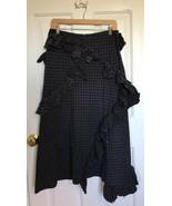 Issey Miyake Designer Ruffle Pencil Maxi Skirt SIZE SMALL 4 grid black b... - $196.02