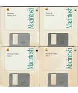 Macintosh Tools & Utilities Ver. 6.0.5 ~ 1990 Software 4 disk set       ... - $44.57