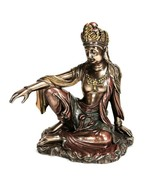 KWAN YIN STATUE Royal Ease Buddhist Goddess HIGH QUALITY Buddha Quan Gua... - $46.95