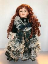 "16"" Crown Porcelain Doll w/Stand --1999 Artmark - $8.75"