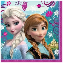 Disneys Frozen Lunch Dinner Napkins Birthday Party Supplies 16 Per Package New - $8.86
