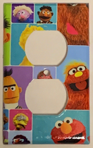 Sesame Street Friend Block Light Switch Power Outlet wall Cover Plate Home decor image 2