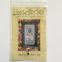 Lizzie Kate Spring Button Up #066 Cross Stitch Pattern W/Buttons Bird House - $8.91