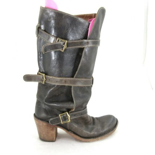 Primary image for 39/8.5 - Fiorentini + Baker Laverne Lety Brown Buckle Heeled Tall Boots 0711MD